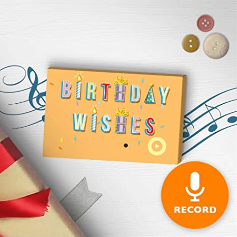 Amazon.com: Cumpleaños Deseos etiqueta de regalo con sonido ...