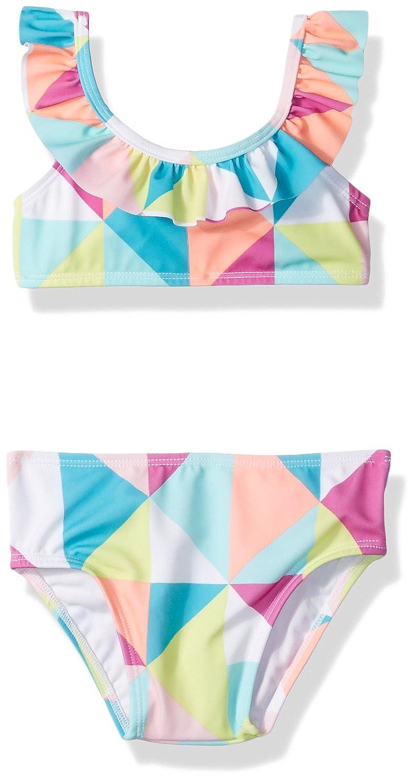 02f8b1e4e1540 Amazon.com: Crazy 8 Toddler Girls 2pc Multi Geo Ruffle Neck 2 Piece Bikini:  Clothing