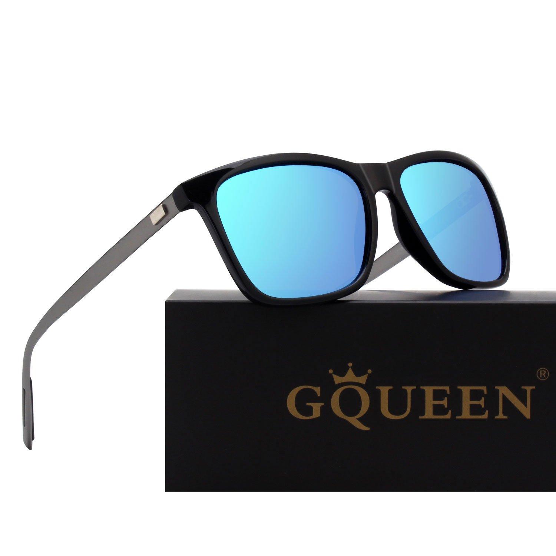 GQUEEN メンズ ブラックブルー ブラックブルー B076D5RXDT