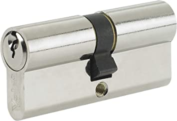Asec 5 Pin Euro Cylinder Nickel Plated 70mm 30//40 Lock UPVC Door Yale Style