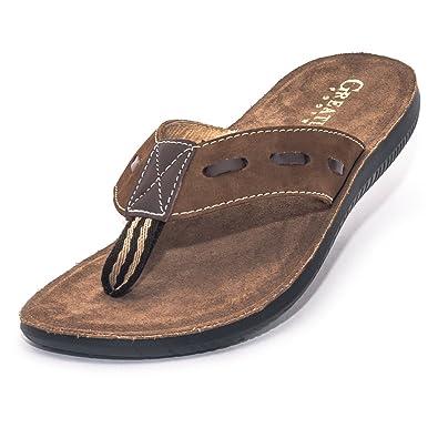 6589ab1a123960 Greatland Men s Leather Sandal (4) Brown