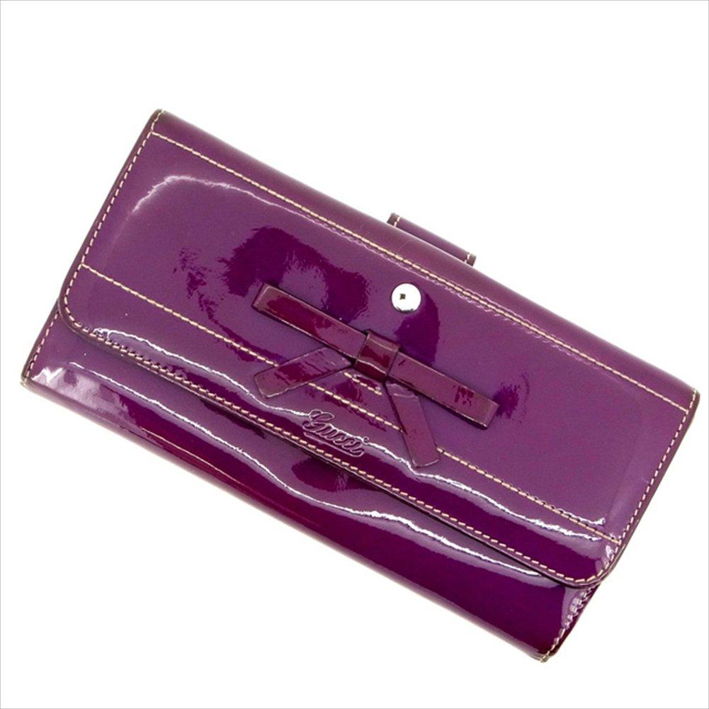 (グッチ) Gucci 長財布 Wホック パープル レディース 中古 M1028   B01M1S16QO