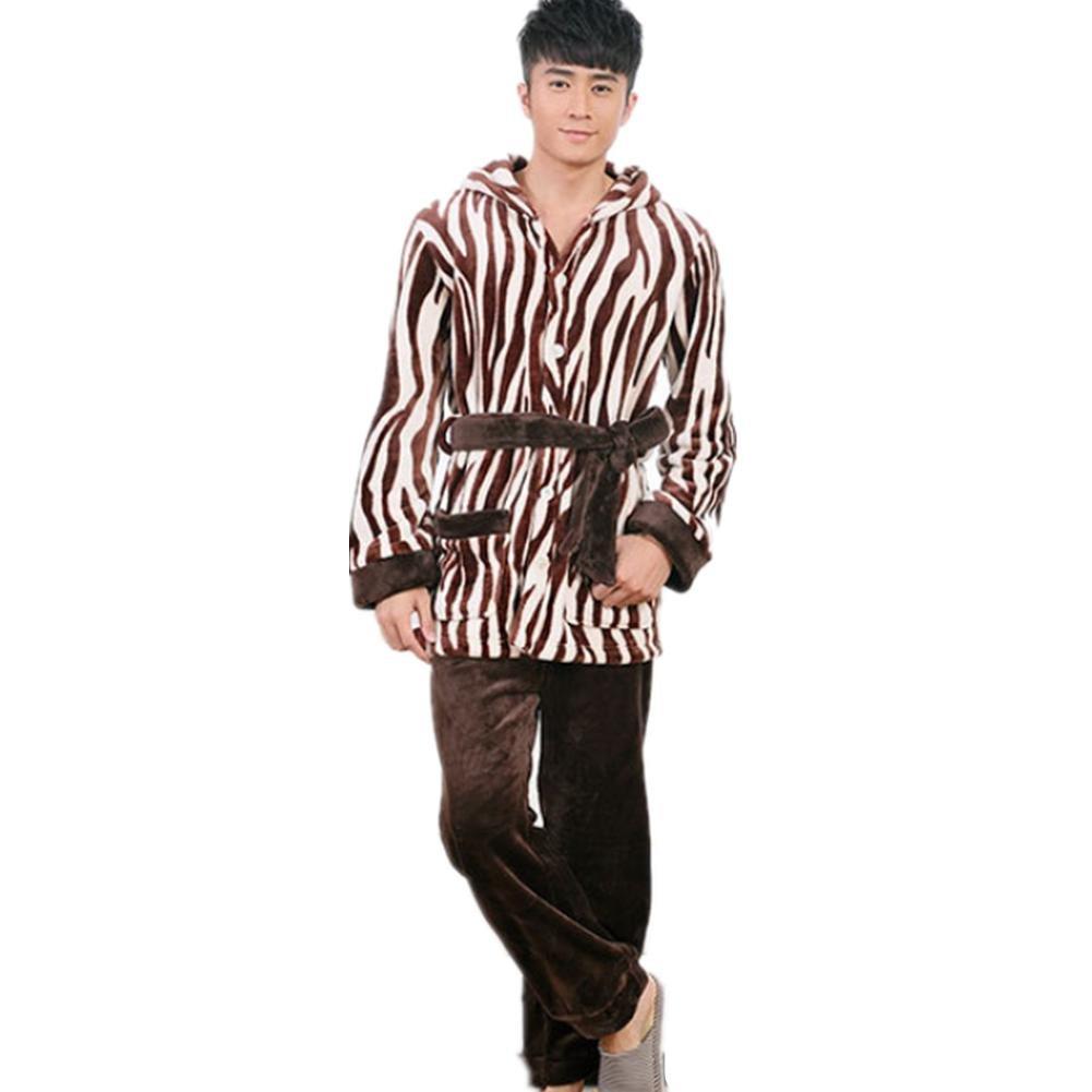 DMMSS L'autunno e l'inverno Comfort Sleepwear manica lunga Pajama Set uomo con Pj pantaloni , m