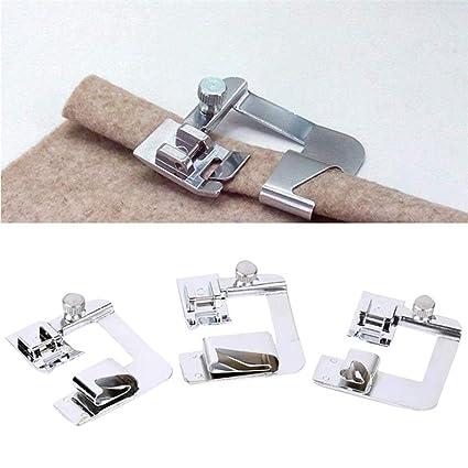 TAOtTAO - 3 piezas de prensatelas de presión para máquina de coser Singer Brother adaptador de