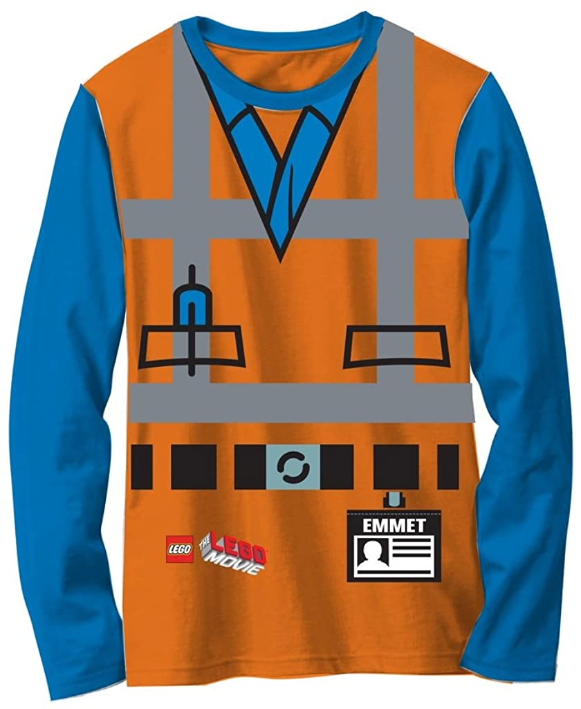 LEGO Movie Emmet naranja niños disfraz de manga larga T-Shirt ...
