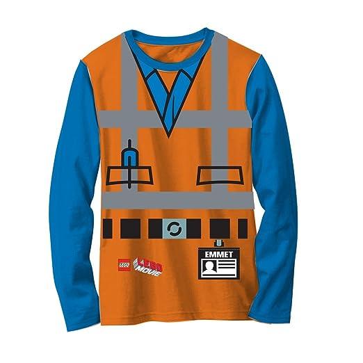Amazon.com LEGO Movie Emmet Orange Boys Long Sleeve Costume T-Shirt Clothing  sc 1 st  Amazon.com & Amazon.com: LEGO Movie Emmet Orange Boys Long Sleeve Costume T-Shirt ...