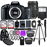 Canon EOS Rebel T7i Digital SLR Camera with Canon EF-S 18-55mm is STM Lens + Tamron 70-300mm f/4-5.6 AF Lens + Accessory Bundle