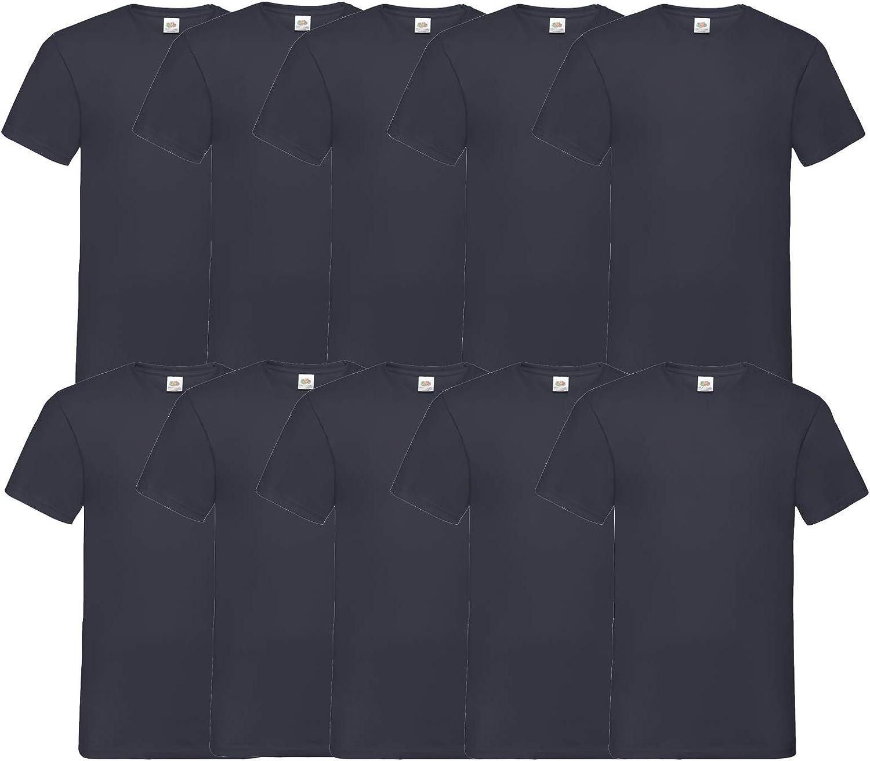 Fruit of the Loom 10 T Shirts V-Neck M L XL XXL V-Ausschnitt Diverse Farben HL-Kauf