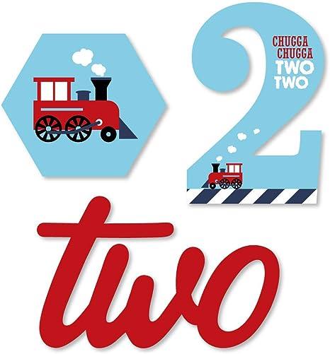 Amazon.com: Paso de fiesta de 2º cumpleaños, tren de vapor ...
