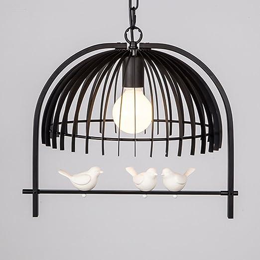 Retro lámpara colgante pájaro jaula lámpara vintage techo Hierro ...