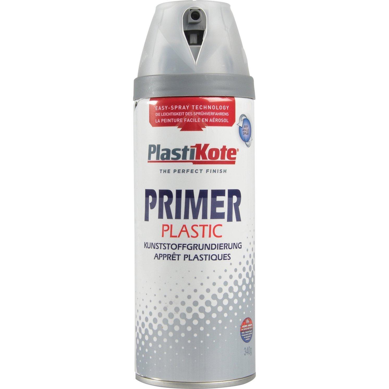 Plastikote 25606 Twist Spray 400ML Plastic Primer, Clear