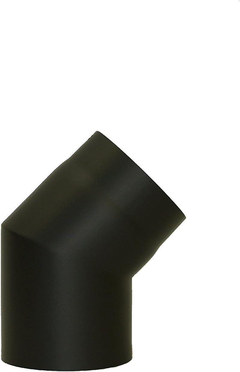 Rauchrohr Ofenrohr Kaminrohr Bogen 45/° ohne T/ür /Ø 160mm schwarz starr