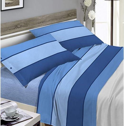 Biancheriaweb - Juego de sábanas de 100% algodón, diseño de Rayas ...