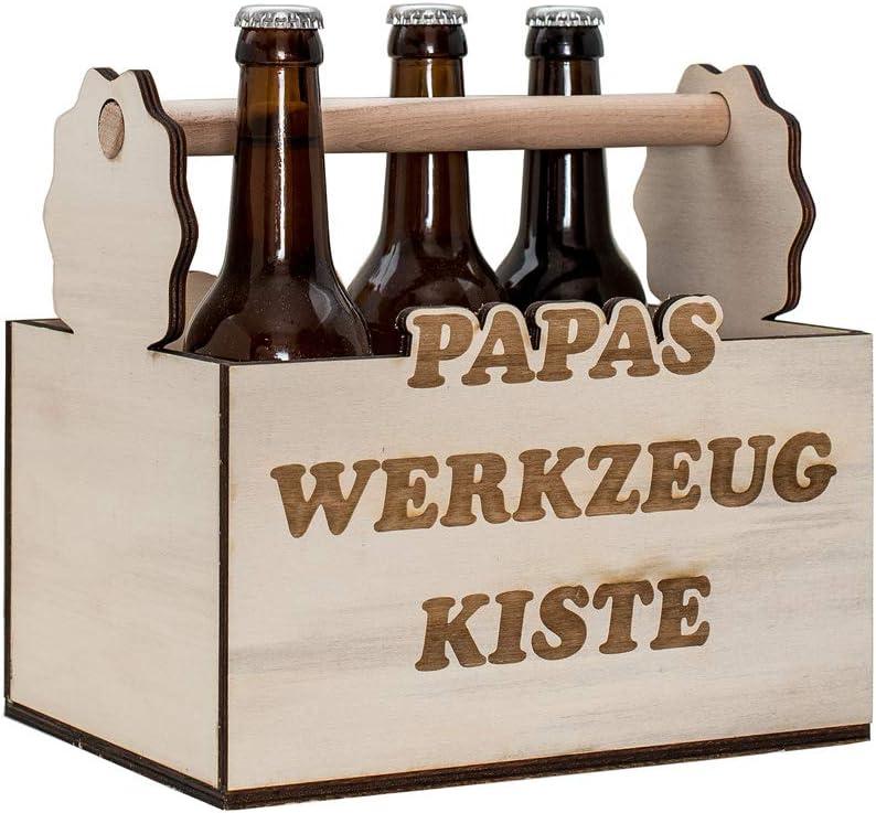 cerveza Tirantes de madera con texto