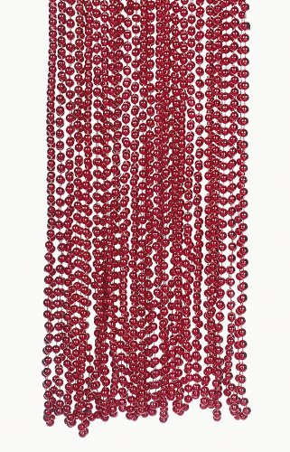Fun Express Red Metallic Bead Necklaces (4 -