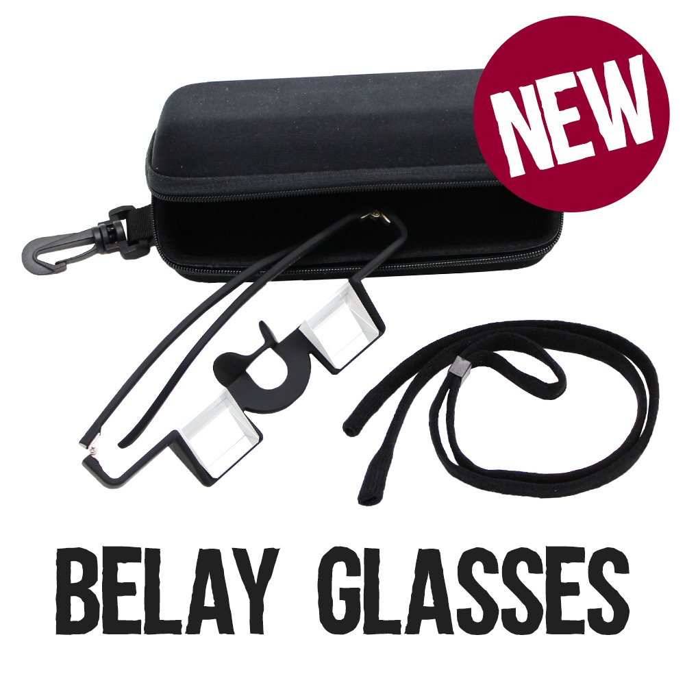 Belay Glasses for rock climbing in dark Blue
