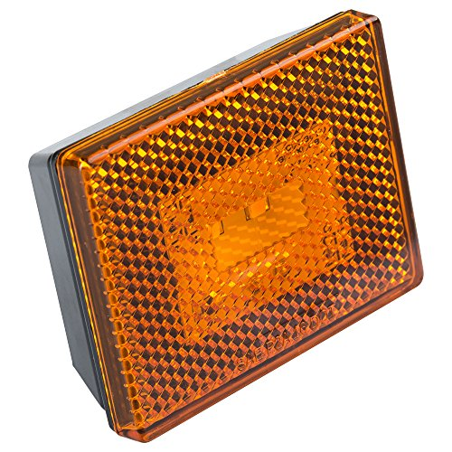 Reflector/Clearance LED Marker Light w/ Stud Mount - Amber lens - Clearly Mark Your RV, Camper, Trailer or 5th Wheel with an Easy to Install Marker