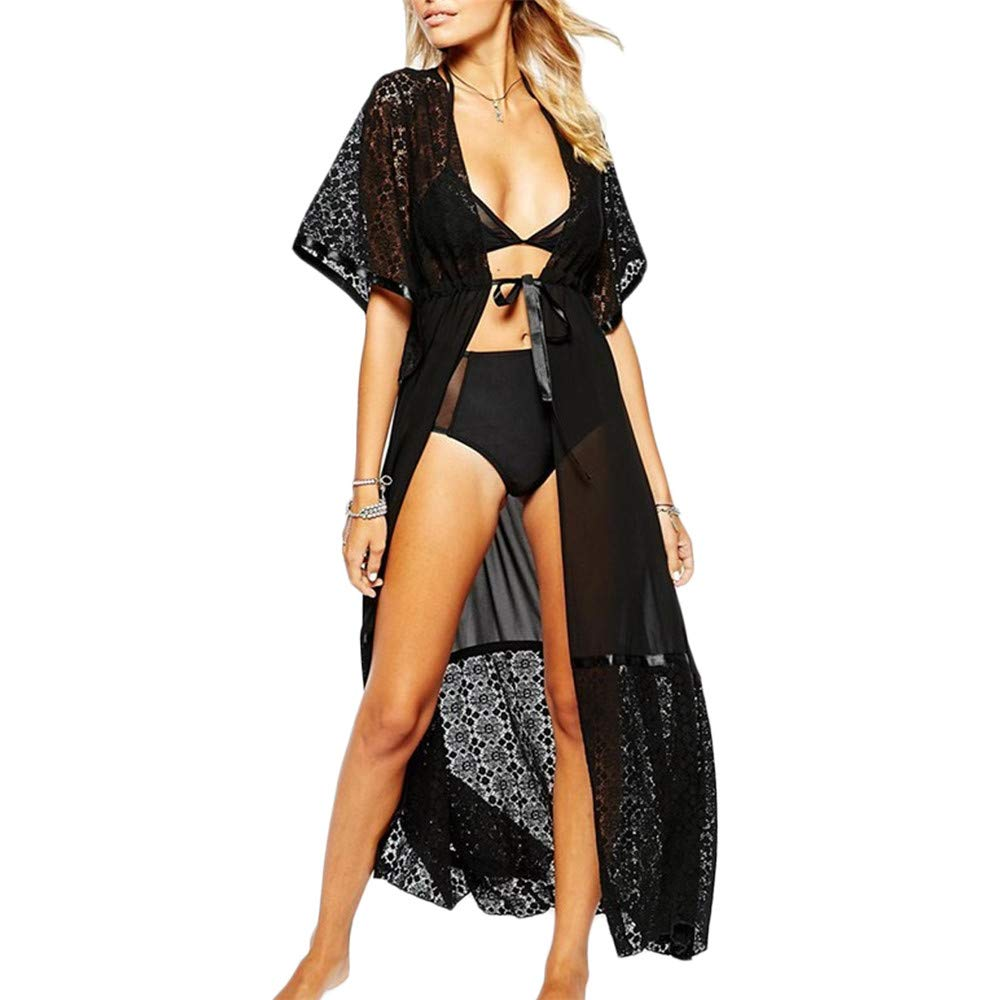 Goodtimeshow Cover up Chiffon Robe Dress Pareos for Women Beach Tunic Sarong Swimsuit