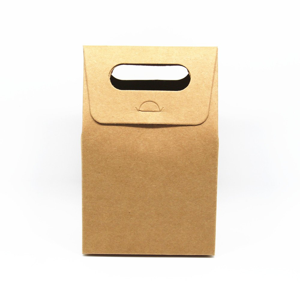 Brown Kraft Paper Box Paperboard Party Wedding Favors Supply Gift Take Out Package Box (80 pack / 5.1''x2.75''x7.87'' (13*7*20cm))