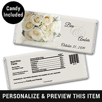 Amazon Wedding Favor Personalized Chocolate Bars Fully