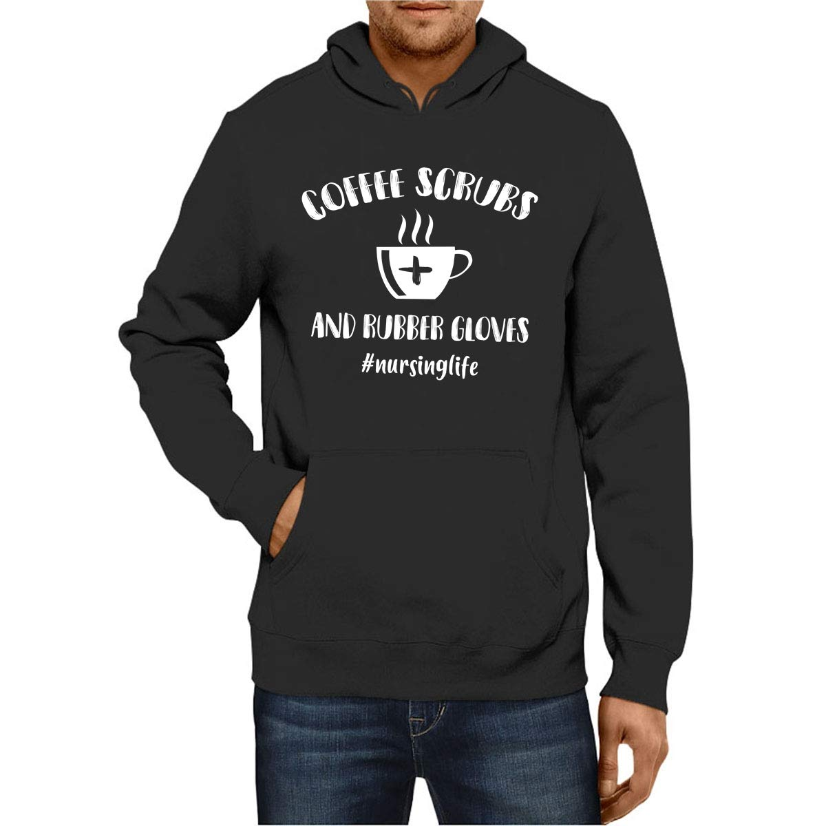 Shirts Gift by DJCorp Coffee Scrubs and Rubber Gloves Proud Nurse Hoodies CA-180907-DJC.MD.HD-019