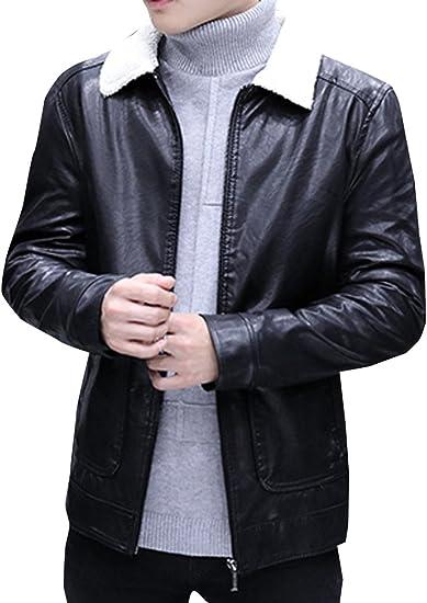 (ネルロッソ) NERLosso 革ジャン ブルゾン メンズ puレザー 裏起毛 裏ボア ジャンパー スタジャン 大きいサイズ 合皮 革 ミリタリージャケット ライダース 正規品 cmw24229