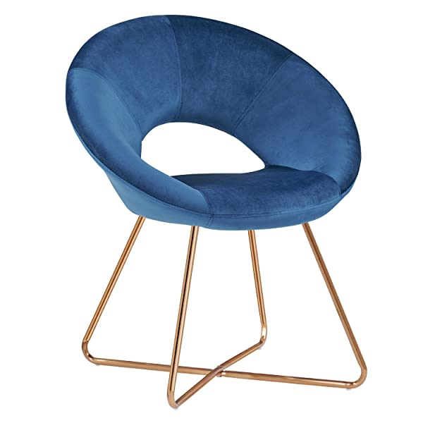 Armless Accent Chair,Duhome Modern Chair Velvet Accent Chair Reception Room Arm Chair with The Golden Metal Frame Legs