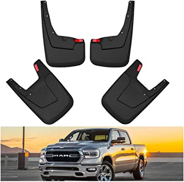 HUSKY Mud Guards Flaps for DODGE RAM 3500 DUALLY w//NO FENDER FLARES Front N Rear