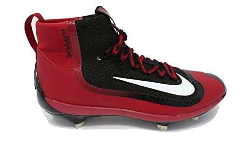 e9069144ad6a Image Unavailable. Image not available for. Color  Nike Huarache 2KFilth  Elite Mid Black-University Red Men s Metal Baseball Cleats ...