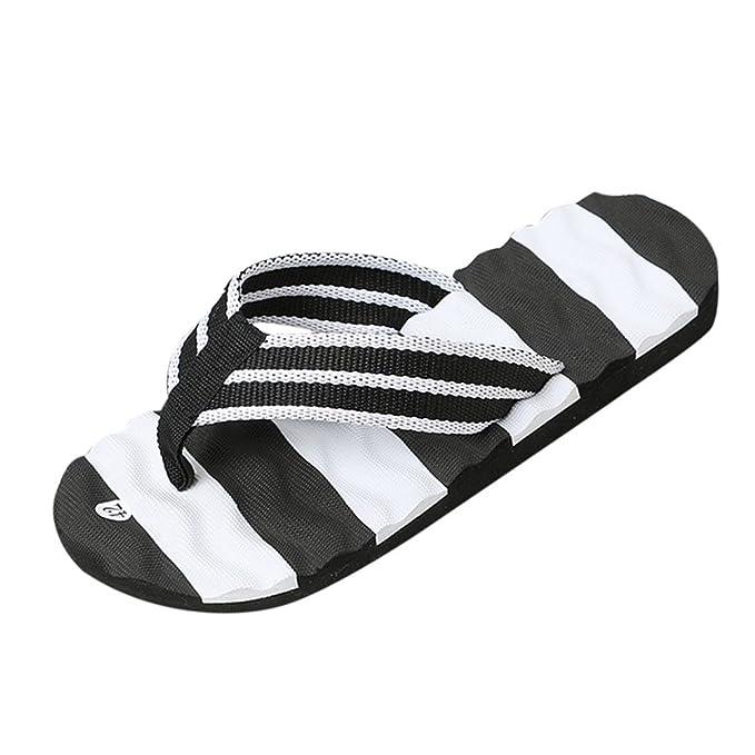 fcdd3b3583f7f Sunyastor Men Summer Stripe Non-Slip Sandals Indoor Outdoor Flip Flops  Shoes Sandals Male Slipper
