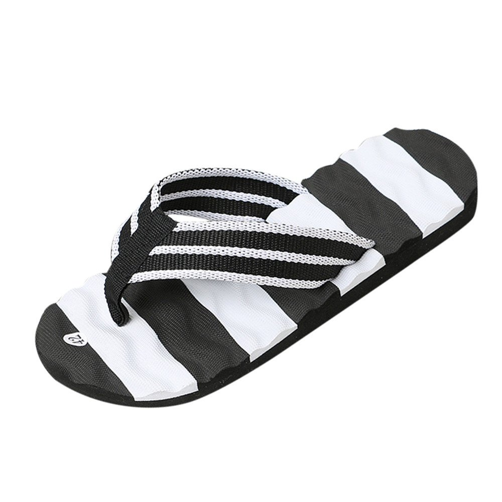 Men Summer Sandals Slipper Indoor Outdoor Flip-flops Beach Shoes Black