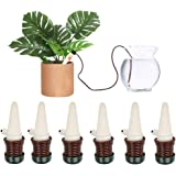Plant Watering Spikes Devices, 6 Pack Ceramic Automatic Watering Drip Irrigation System Gardening Tools for Houseplant Bonsai Flowers