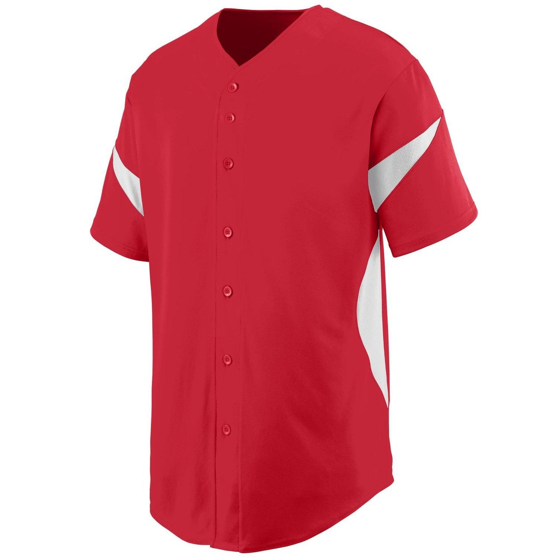 Augusta SportswearメンズホイールHouse Baseball Jersey B00P53S30Q XX-Large|レッド/ホワイト レッド/ホワイト XX-Large