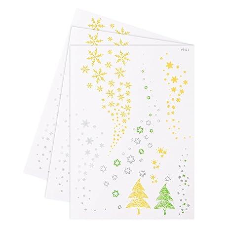 Stella Di Natale Cartamodello.Tinksky 3 Unids Stella Di Natale Cartamodello Di Fiocco Di Neve A