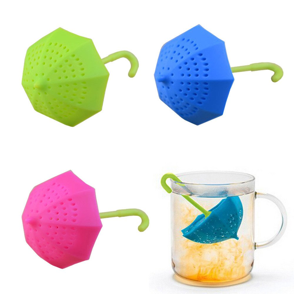 Easy to Clean Tea Steeper Baskets Easy to Use Hot Pink Transer Silicone Tea Infuser Tea Strainers for Steeping Loose Leaf Tea Safe