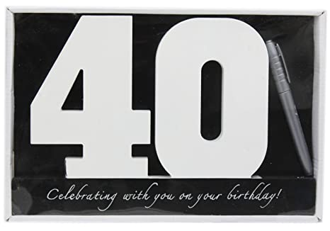 2d6efaefdd9 Image Unavailable. Image not available for. Color  40th Birthday Wooden  Numbers