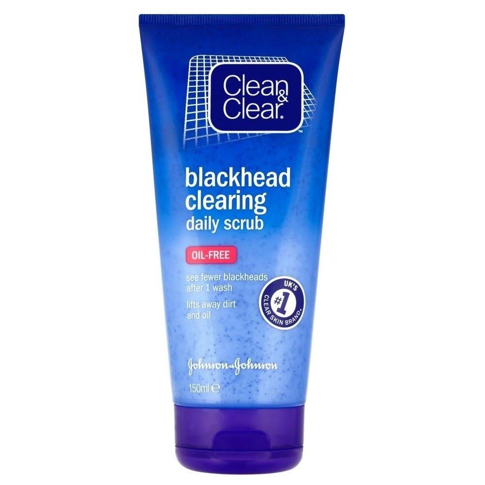 Clean & Clear Blackhead Clearing Daily Scrub (150ml) - Pack of 2 Grocery
