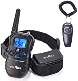 WOLFWILL Pet Dog Training Collar,300 Yards Rechargeable & Rainproof with Beep/Vibration Collar for Training Your Dog