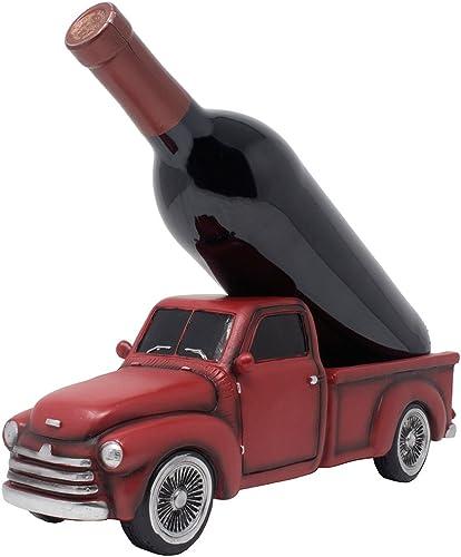 Vintage Pickup Truck Wine Bottle Holder Statue or Decorative Wine Rack