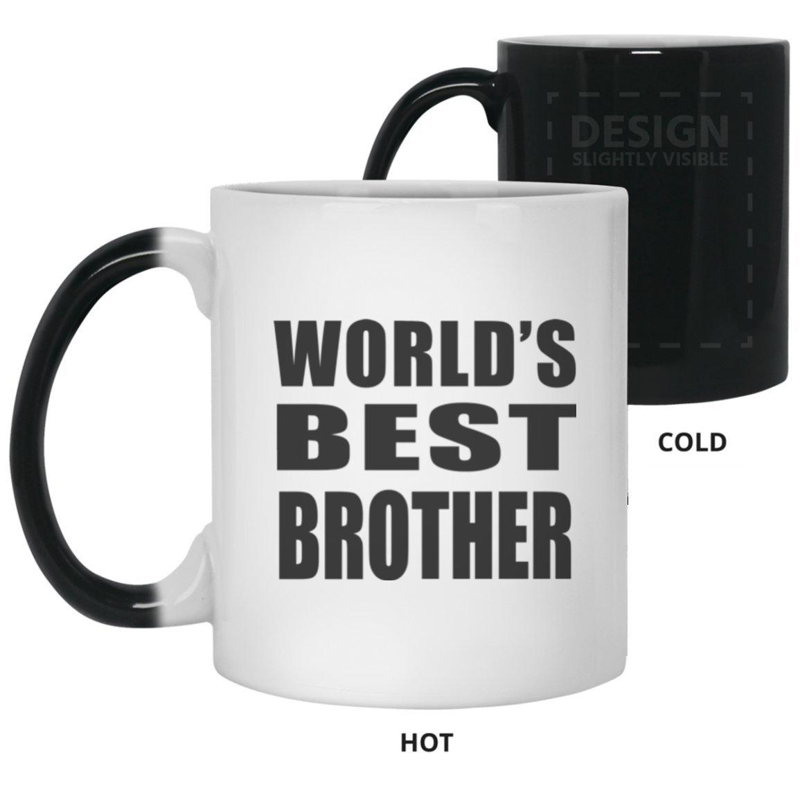 世界最高のBrother – 11 ozカラーChanging Mug、熱Sensitiveカップ、最高のギフト家族、友人、誕生日、結婚記念日、休日、母の/父の日 B07DH679J7