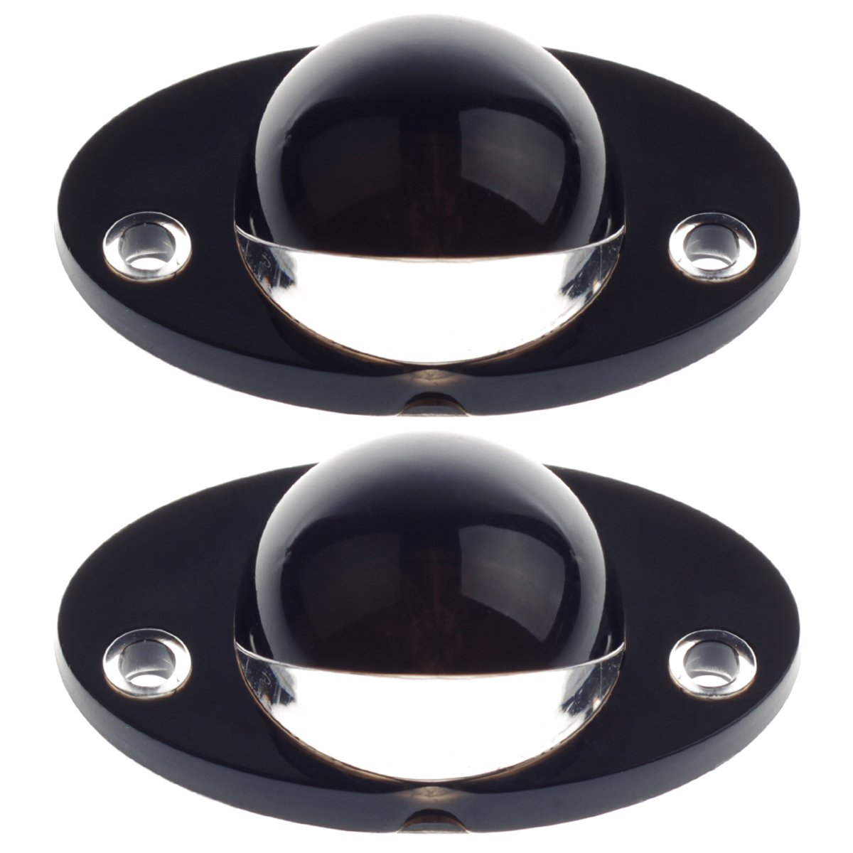 HERCOO License Plate Light Lamp Lens Compatiable with 1994-2002 Dodge Ram 1500 2500 3500 Aftermarket Replacement, Qty:2