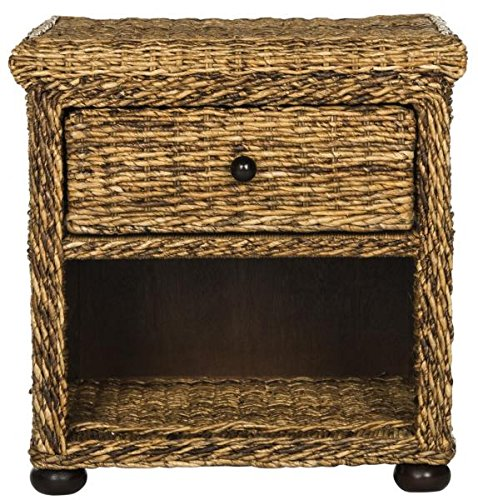 Safavieh SEA8001A Night Stand, Normal (Classic Rattan Bedside Table)
