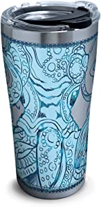 Tervis Teal Octopus Stainless Steel Insulated Tumbler with Clear and Black Hammer Lid, 20oz, Silver
