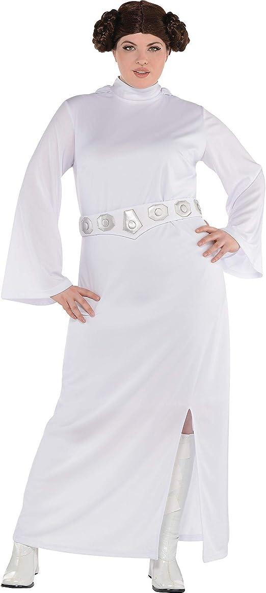 Disfraz de Princesa Leia para Mujer, Star Wars, Talla Grande ...