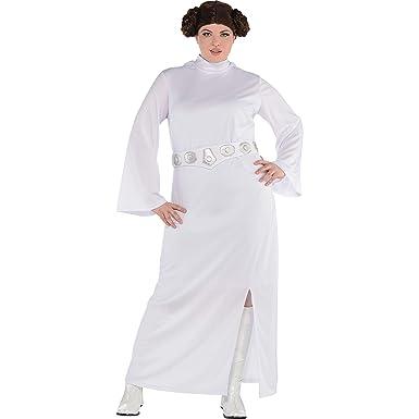 Amazon.com: Traje de princesa Leia Halloween para mujer ...