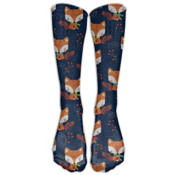 Calcetines altos Cute Fox Compression Running Socks Soccer Comfortable Socks Knee High Socks for Running,Medical,Athletic,Edema,Diabetic,Varicose Veins ...
