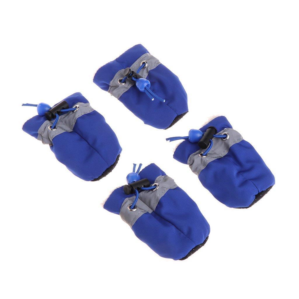 zrshygs Botas de Lluvia para Perros Zapatos Impermeables para el Perro Zapatos de Lluvia Botines de Nieve Zapatos Antideslizantes para Perros peque/ños Cachorros Invierno c/álido Y7