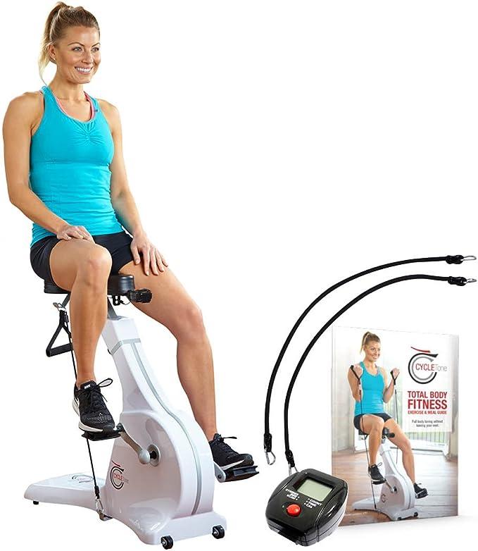 Ciclo Tono Bicicleta Estática con Bandas de Resistencia Imagen Bonus Digital Monitor, Avanzada Bandas de Resistencia (8 kg) y Tablet Soporte (como Visto en TV de Alta Calle): Amazon.es: Deportes y aire