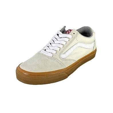 Vans TNT 5 Mens Ivory Leather Skate Shoes Size UK 8  Amazon.co.uk ... 16ea413ce