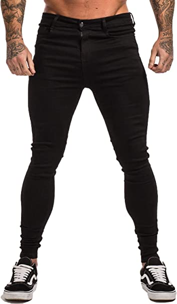 Men Denim Quilted Jeans Pants High-End Quality Black Red Green White ALL SIZES